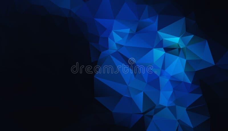 Fundo geométrico azul preto eps 10 ilustração do vetor