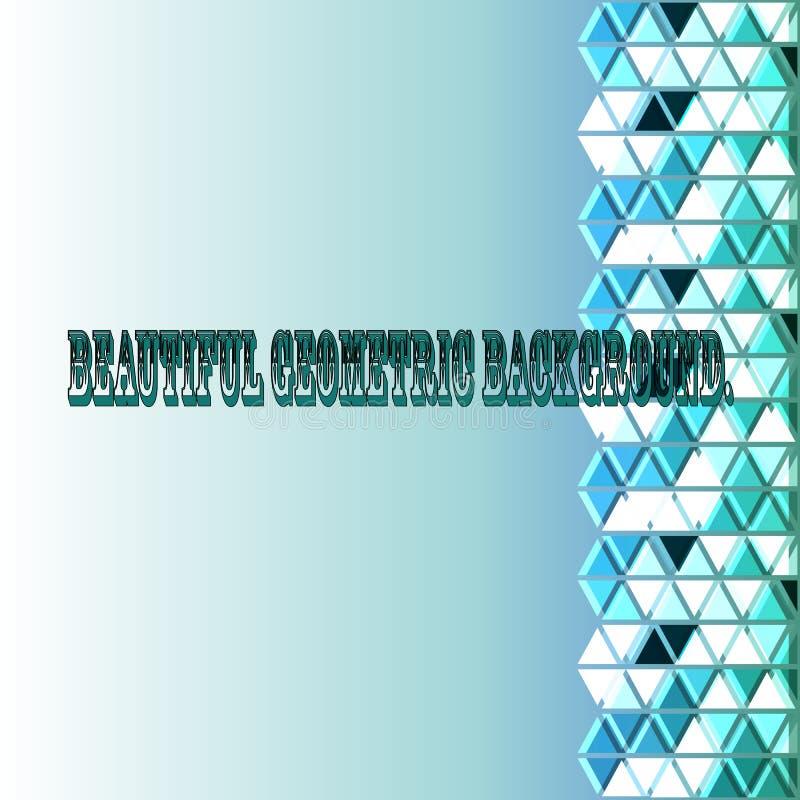 Fundo geométrico bonito dos triângulos e dos rombos em uma gama azul esverdeado, em um claro - fundo verde do inclinação ilustração do vetor