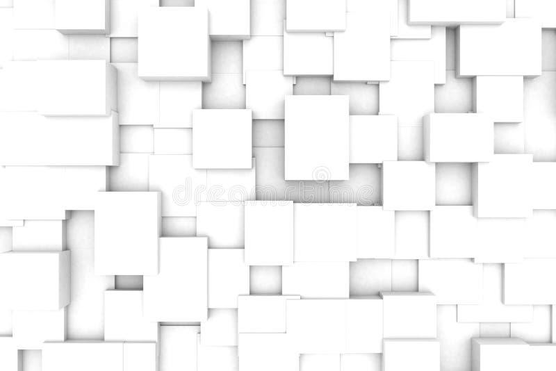 Fundo geométrico branco ilustração royalty free