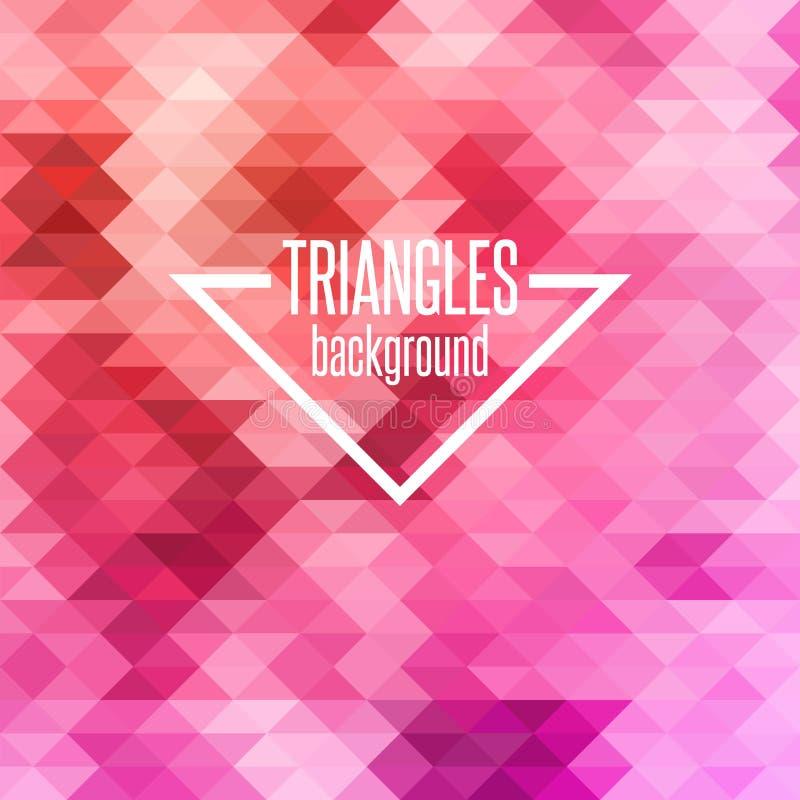 Fundo geométrico colorido abstrato com triângulos ilustração do vetor