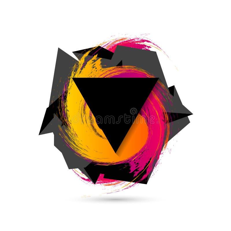 Fundo geométrico colorido abstrato Estilo moderno Vetor ilustração stock