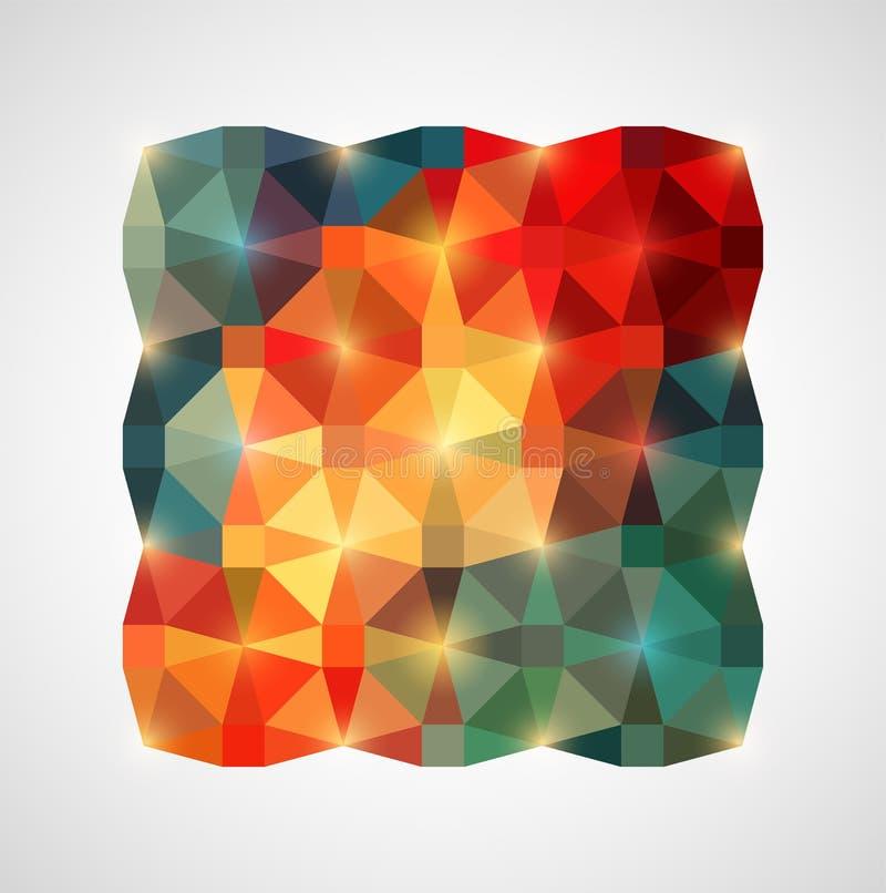 Fundo geométrico colorido abstrato Ilustração do vetor ilustração royalty free