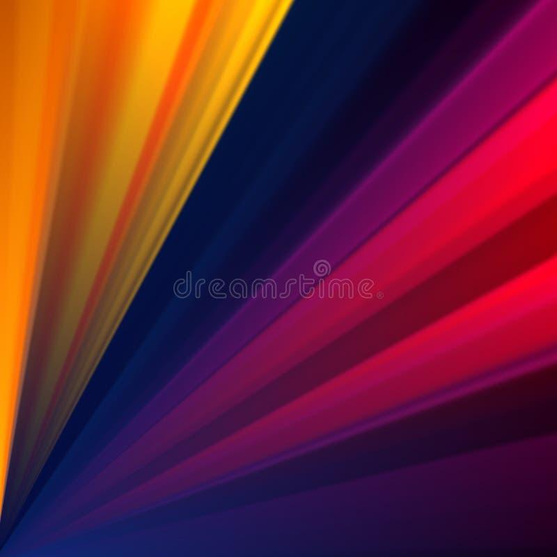 Fundo geométrico colorido com raios Fundo do vetor da abstração ilustração royalty free