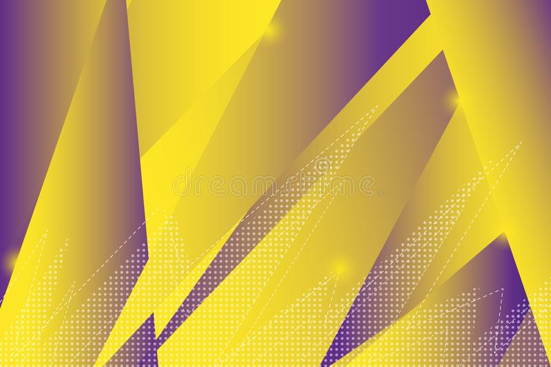 Fundo geométrico colorido Composição dinâmica das formas ilustração do vetor