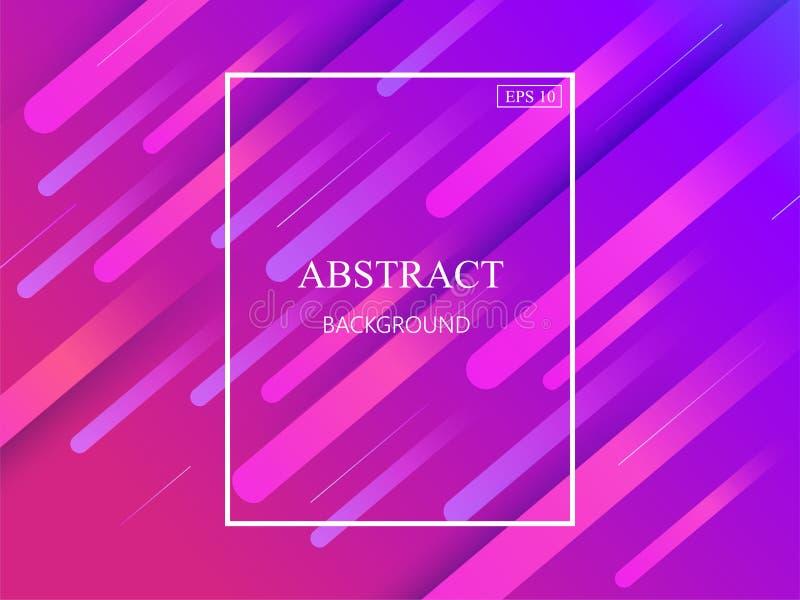 Fundo geométrico colorido Composição dinâmica das formas EPS10 ilustração royalty free