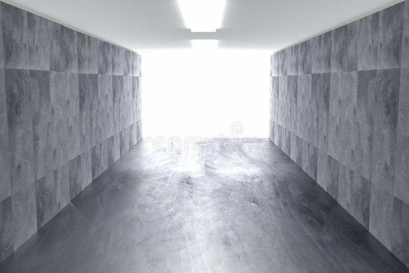 Fundo geométrico concreto do sumário com luz 3d rendem ilustração royalty free