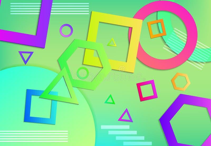 fundo geométrico da forma 3d ilustração do vetor