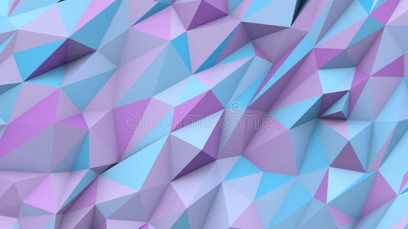 Fundo geométrico da forma das cores polis abstratas azuis lilás dos triângulos imagem de stock