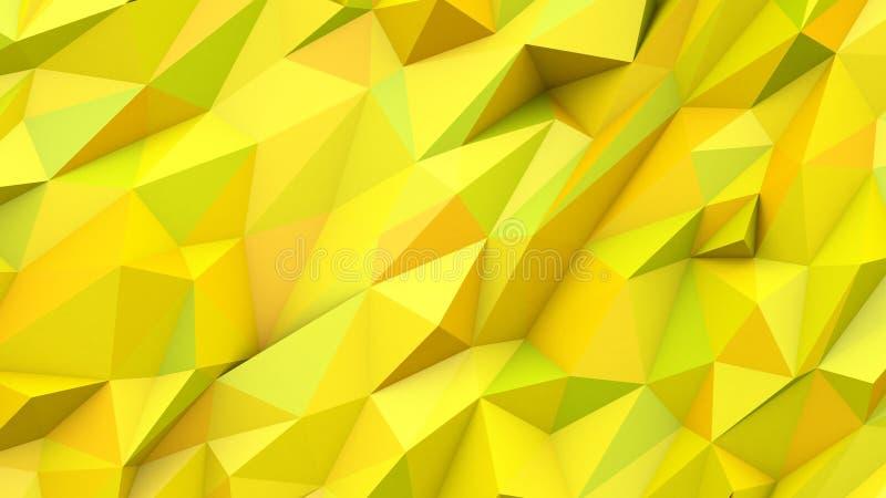 Fundo geométrico da forma das cores polis dos triângulos do sumário do verde amarelo imagens de stock royalty free