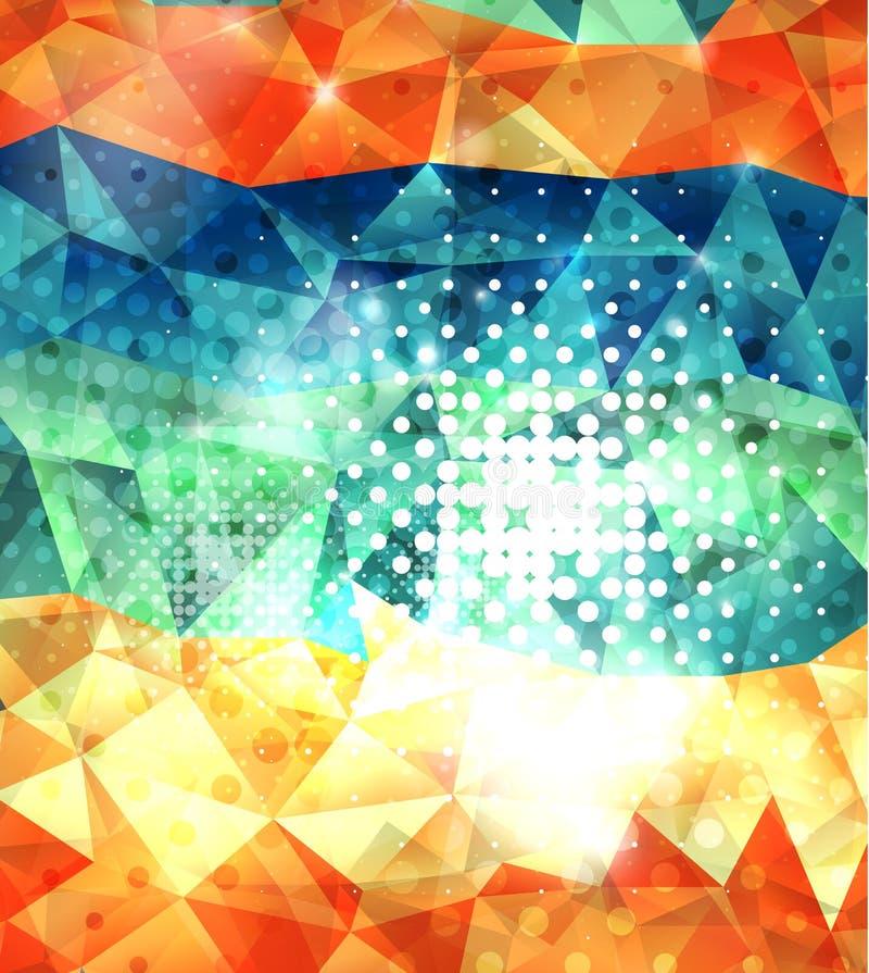 Fundo geométrico da forma dos triângulos brilhantes ilustração royalty free