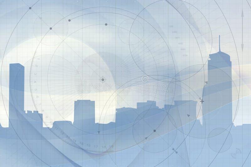 Fundo geométrico da skyline ilustração royalty free
