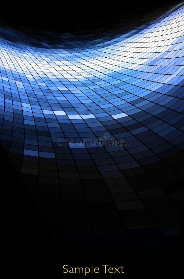 Fundo geométrico da tecnologia. Fundo creativo. ilustração stock
