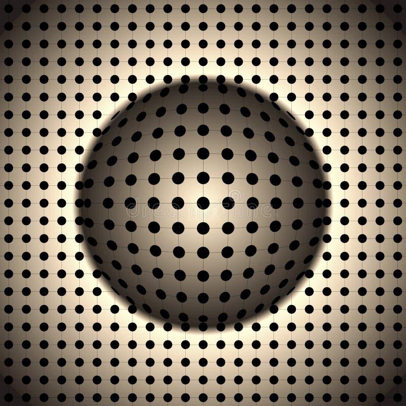 Fundo geométrico das ilusões ilustração do vetor