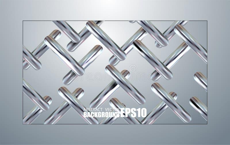 Fundo geométrico de prata colorido Molde abstrato mínimo com formas simples Composição criativa para a Web e a cópia T ilustração stock