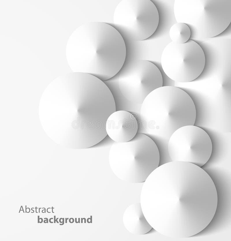Fundo geométrico do cone 3D abstrato ilustração royalty free