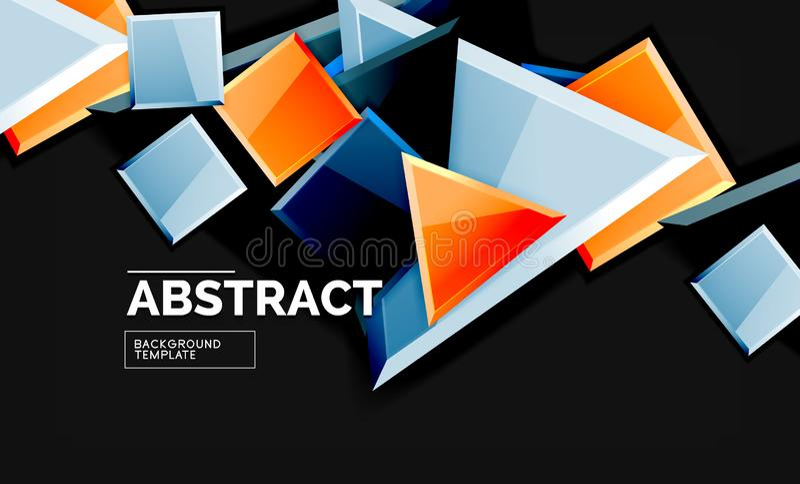 Fundo geométrico do estilo brilhante ilustração stock