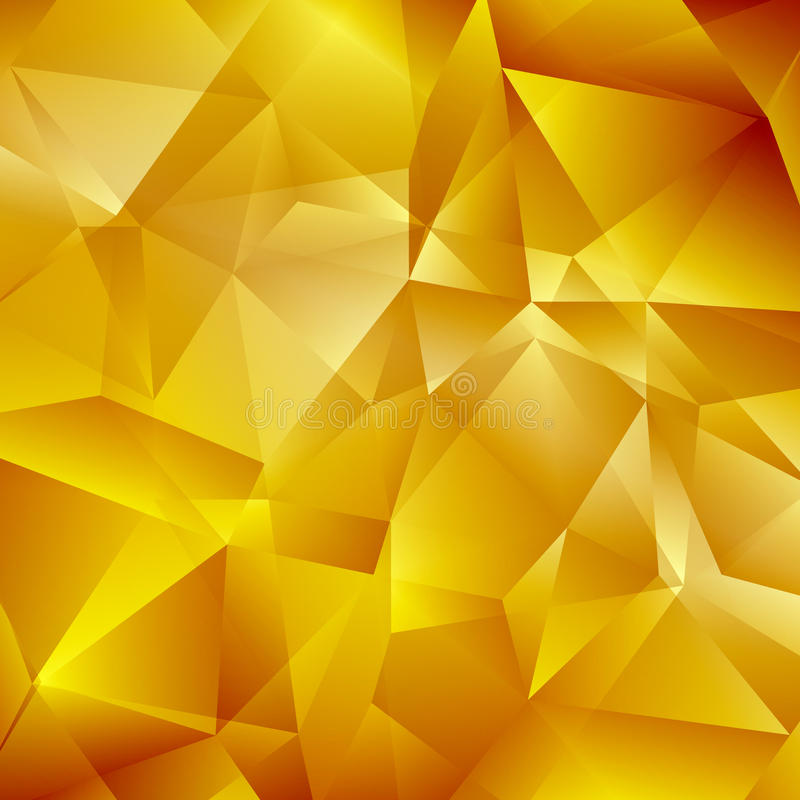 Fundo geométrico do ouro abstrato ilustração stock