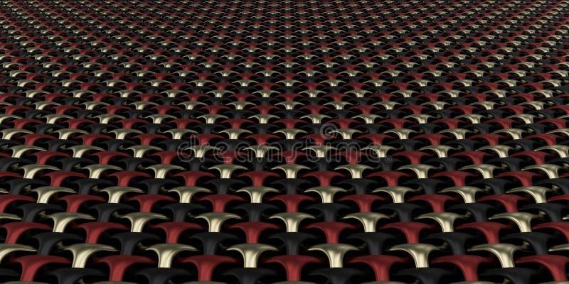 fundo geométrico do papel de parede do sumário do Weave 3D foto de stock royalty free