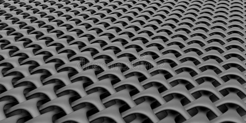 fundo geométrico do papel de parede do sumário do Weave 3D imagens de stock