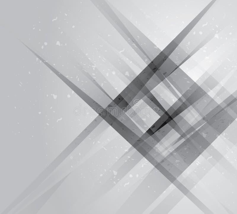 Fundo geométrico do projeto incorporado da tecnologia cinzenta abstrata EPS10 cinza, fundo geométrico do sumário ilustração stock