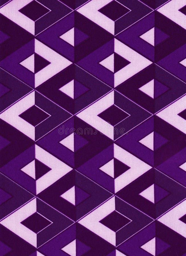 Fundo geométrico do roxo dos losanges imagem de stock royalty free