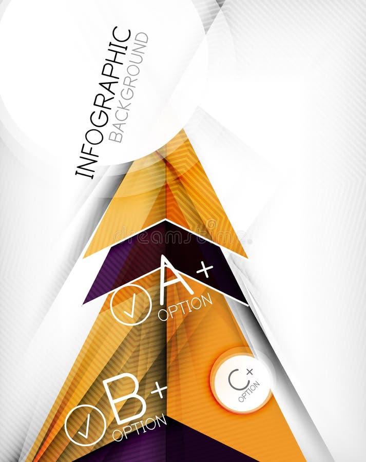 Fundo geométrico do sumário da forma de Infographic ilustração stock