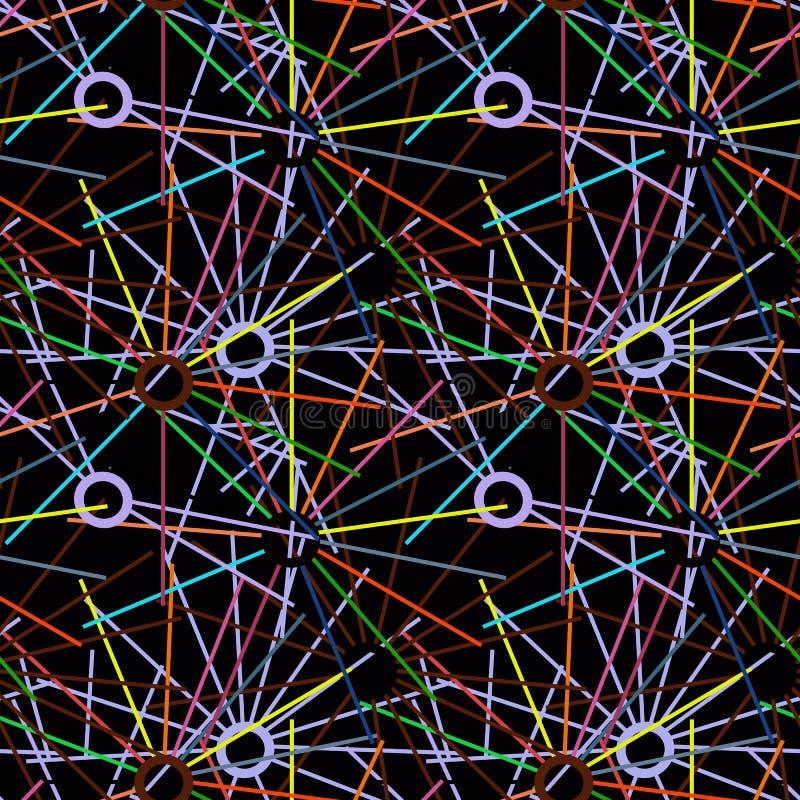 Fundo geométrico dos círculos e das linhas imagens de stock