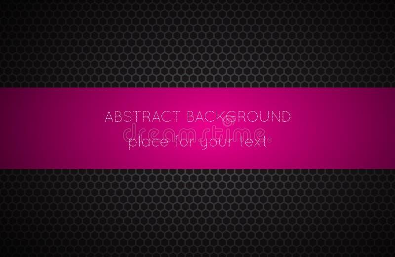 Fundo geométrico dos polígono com lugar cor-de-rosa para seu texto ilustração stock