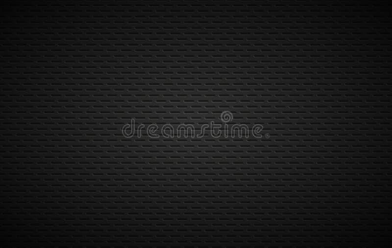Fundo geométrico dos polígono, metálico preto abstrato ilustração royalty free