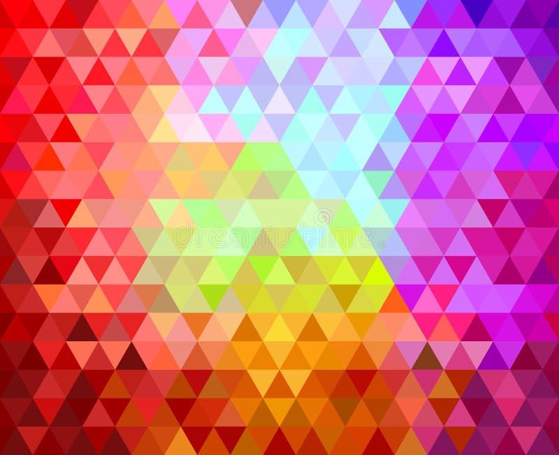 Fundo geométrico dos triângulos ilustração stock