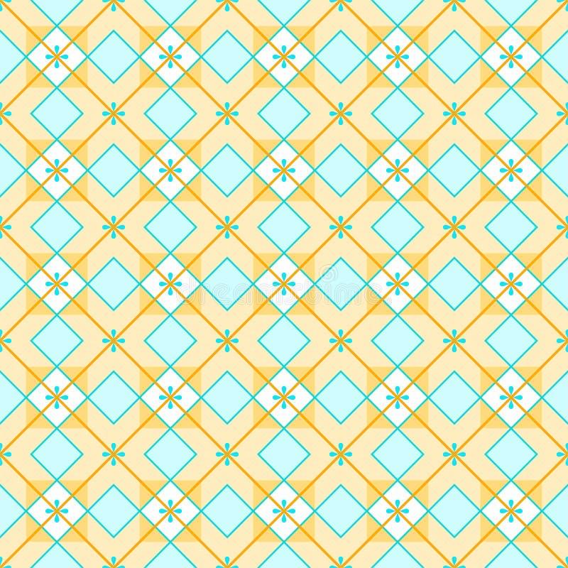 Fundo geométrico feito dos quadrados, sem emenda, amarelo ilustração royalty free