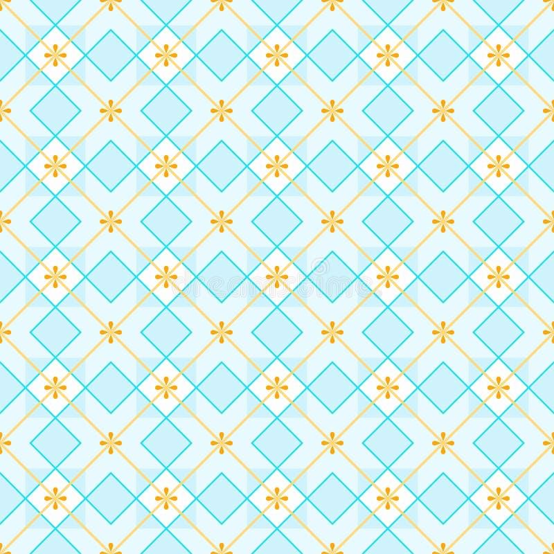 Fundo geométrico feito dos quadrados, sem emenda, azuis ilustração royalty free