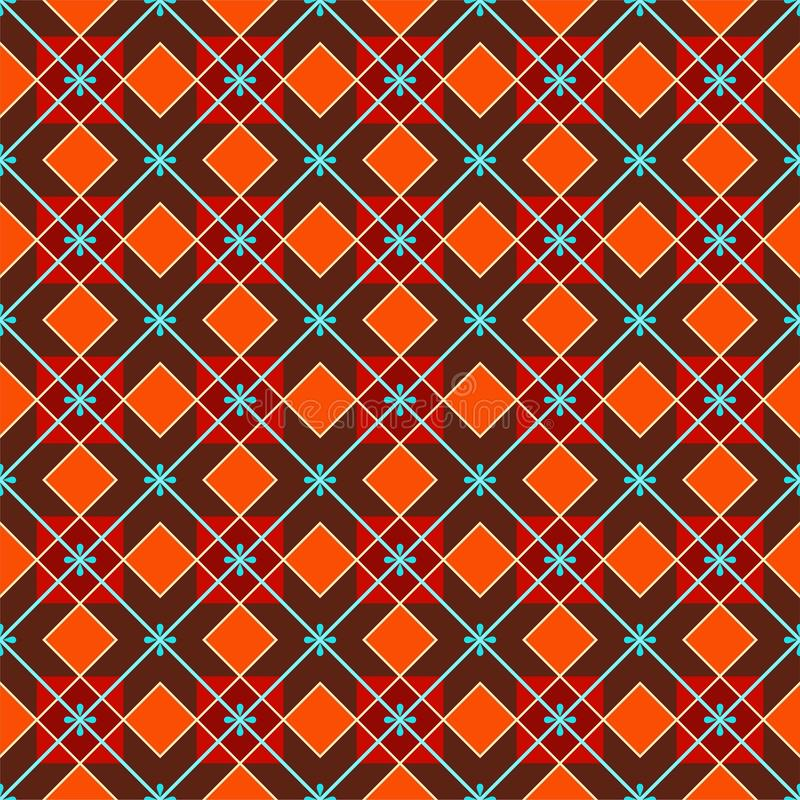 Fundo geométrico feito dos quadrados, sem emenda, vermelho-marrons ilustração royalty free