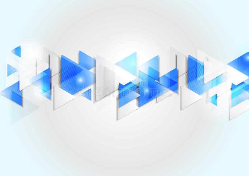 Fundo geométrico incorporado abstrato da tecnologia ilustração do vetor