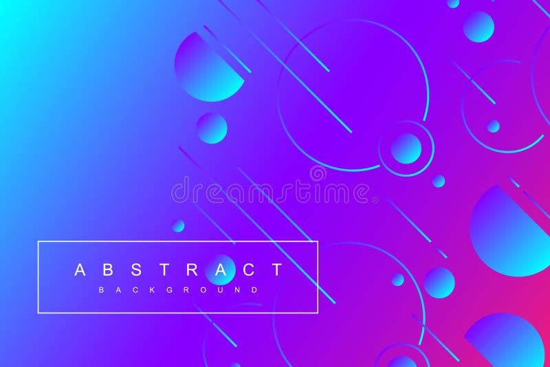 Fundo geométrico mínimo colorido O inclinação dá forma à composição Cartazes futuristas do projeto Ilustração do vetor ilustração do vetor