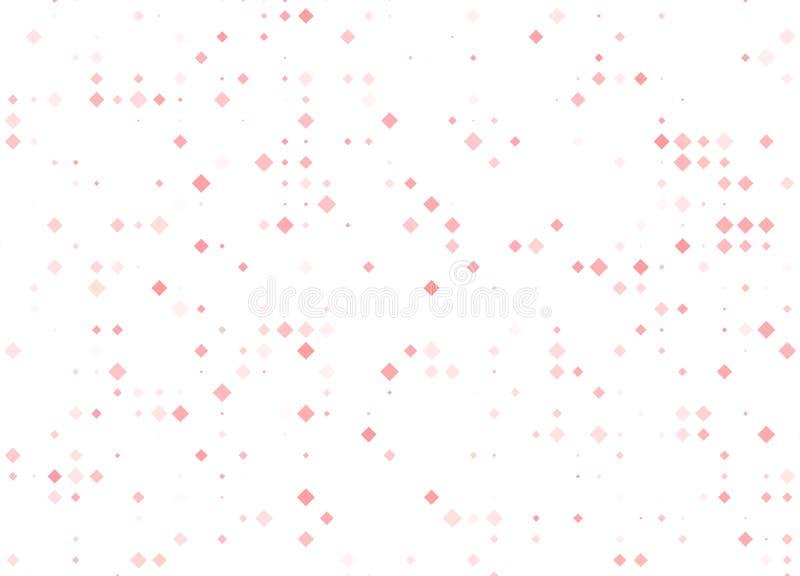 Fundo geom?trico moderno do sum?rio do rombo do vetor amarelo vermelho claro Molde pontilhado da textura Teste padr?o geom?trico ilustração royalty free
