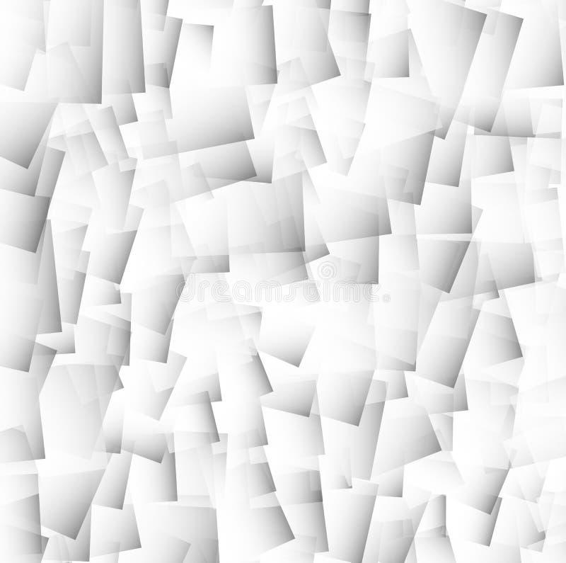 Fundo geométrico, mosaico dos retângulos, quadrados seamlessly ilustração stock