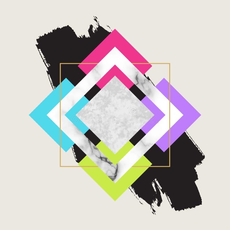 Fundo geométrico na moda do vetor Projeto escandinavo moderno ilustração royalty free