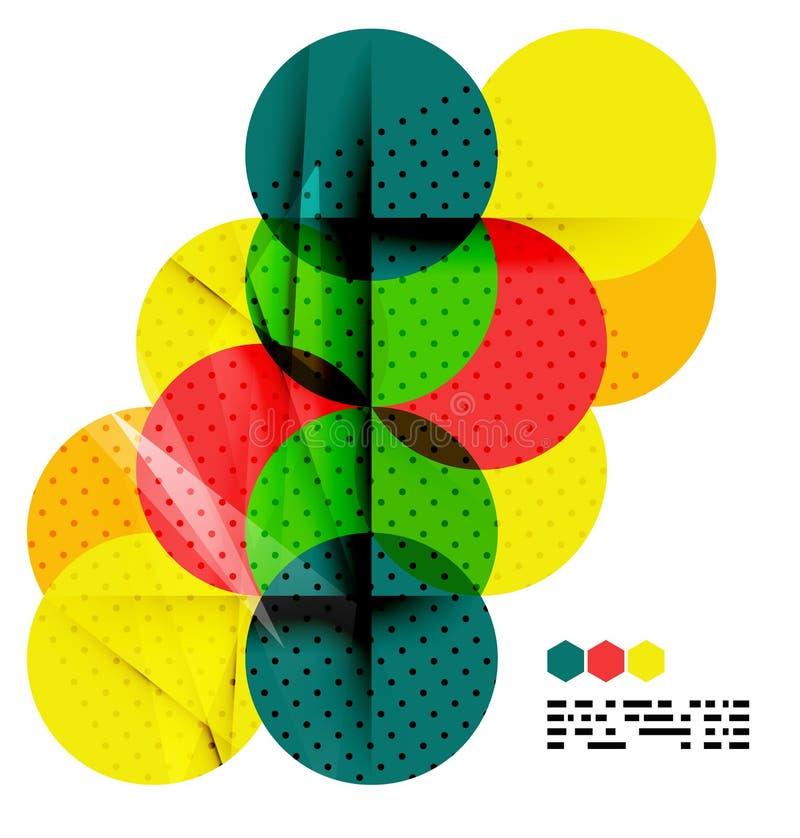 Fundo geométrico no conceito da bandeira de Brasil ilustração royalty free