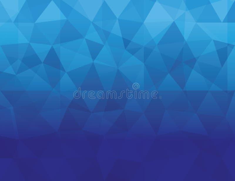 Fundo geométrico poligonal da cor azul abstrata ilustração royalty free