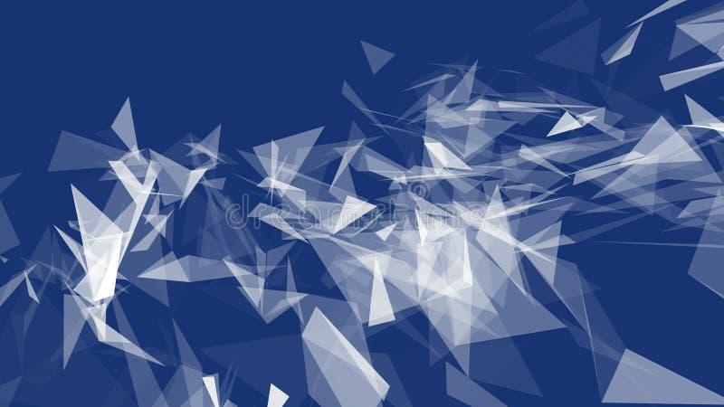 Fundo geométrico poligonal do sumário, triângulos Papel de parede moderno Estilo elegante do fundo ilustração stock