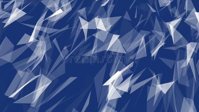 Fundo geométrico poligonal moderno do triângulo do sumário ilustração royalty free