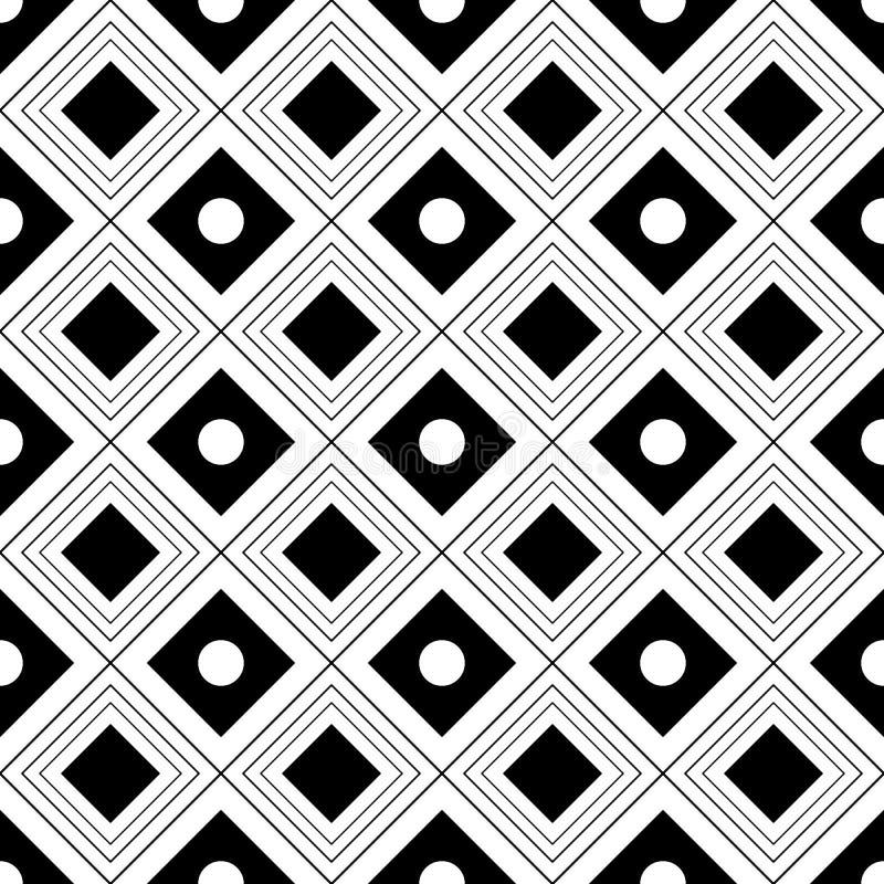 Fundo geométrico preto e branco sem emenda do vetor fotos de stock royalty free