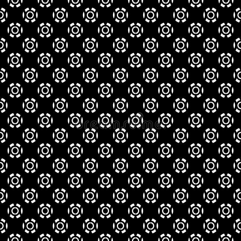 Fundo geométrico repetido sem emenda preto e branco do teste padrão da arte Matéria têxtil, livros ilustração stock