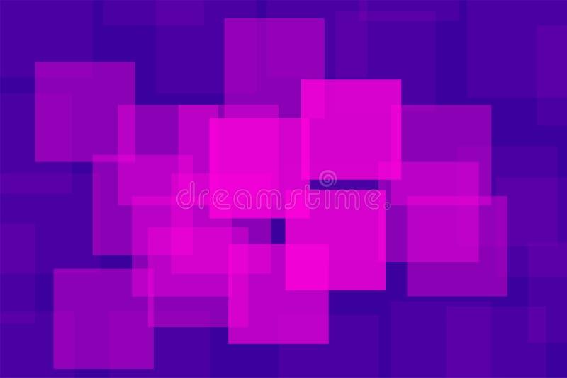 Fundo geométrico roxo dos quadrados da violeta colorida abstrata ilustração do vetor