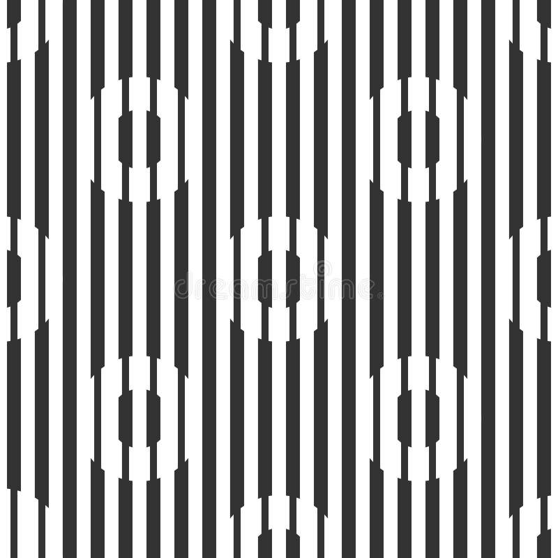 Fundo geométrico sem emenda abstrato, círculos das linhas ilustração stock