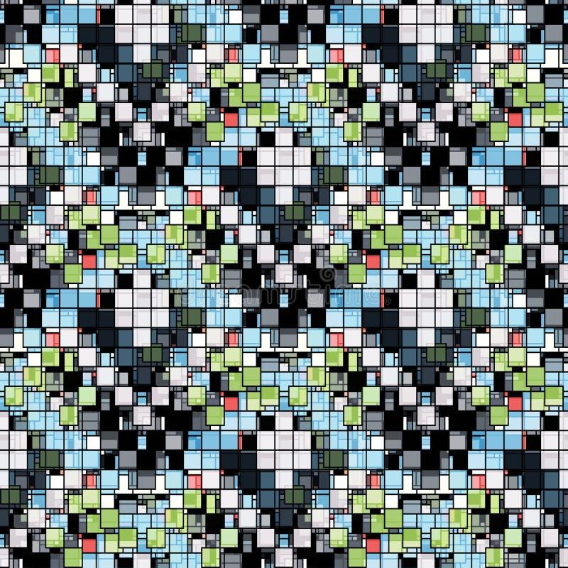 Fundo geométrico sem emenda colorido brilhante pequeno dos polígono ilustração do vetor