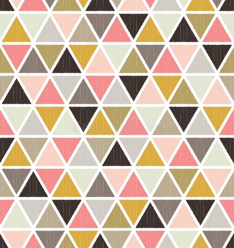 Fundo geométrico sem emenda do símbolo do triângulo ilustração royalty free