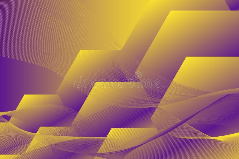 Fundo geométrico sextavado Composição dinâmica das formas ilustração royalty free
