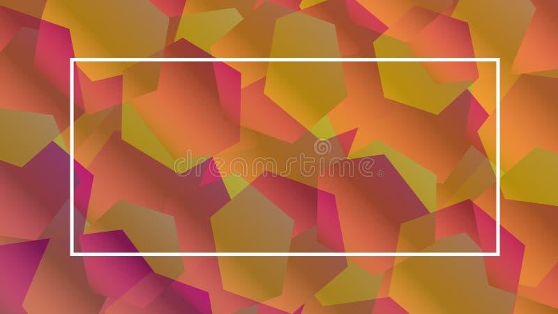 Fundo geométrico sextavado do sumário hex?gono Cartão geométrico, cartaz do inclinação ilustração stock